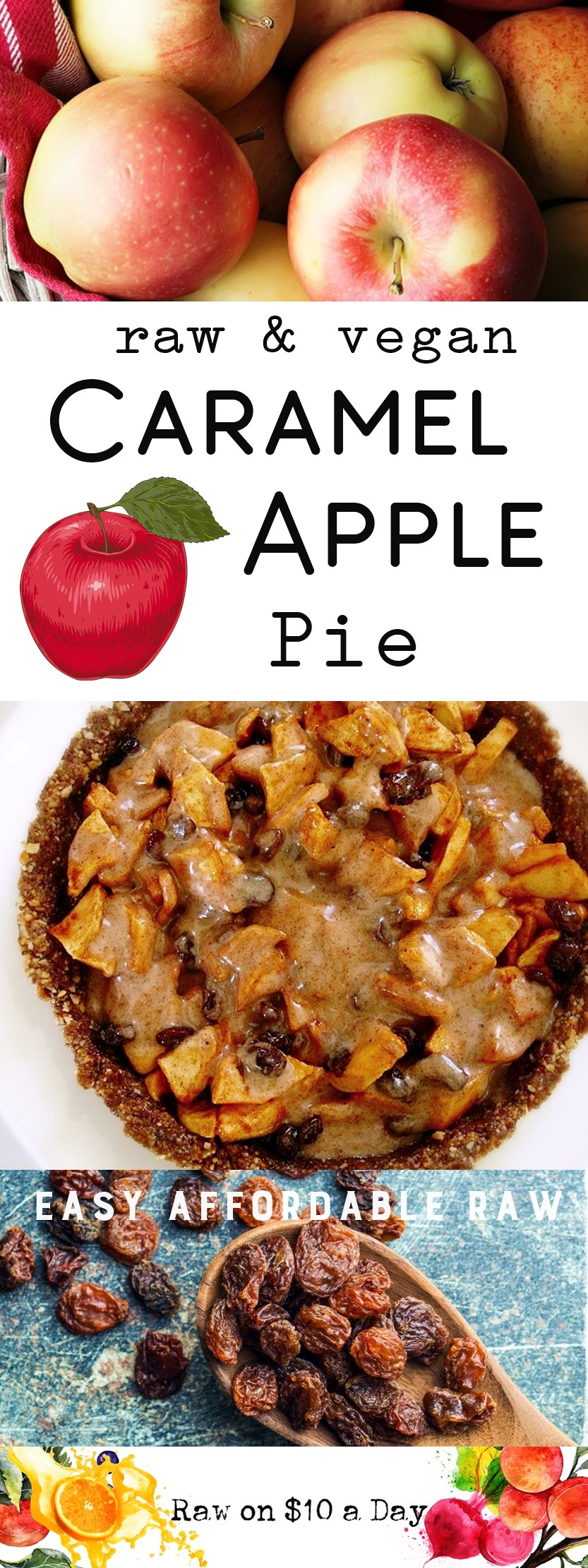Caramel Apple Pie Raw Vegan Recipe Healthy and Delicious Recipe for the Holidays Plant-Based Raw Food Rawon10 Planted365 #rawfood #rawvegan #rawfoodrecipe #rawfooddessert #veganrecipe PIN IT