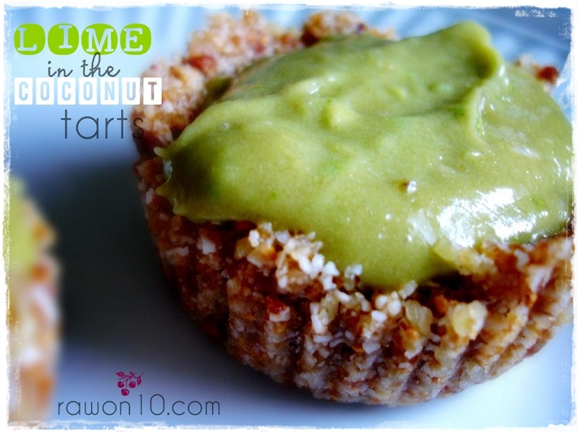 Lime in the Coconut Tarts raw Food Dessert Recipe Rawon10 #rawfood #rawon10 #rawveagnrecipe