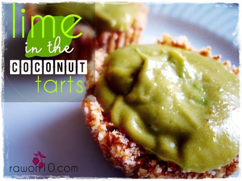 Lime in the Coconut Tarts raw Food Dessert Recipe Rawon10 #rawfood #rawon10 #rawveagnrecipe