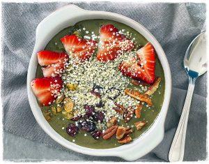 Chocolate Spinach Smoothie Bowl raw Food Breakfast Recipe Rawon10