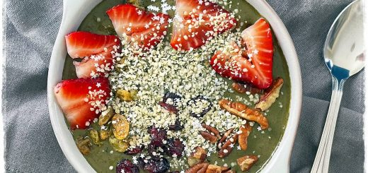 Chocolate Spinach Smoothie Bowl raw Food Breakfast Recipe Rawon10