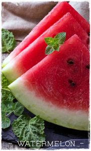 watermelon for chocolate smoothie bowl