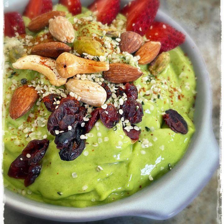 Spicy Mango Spinach Smoothie Bowl Rawon10 Raw Food Recipe