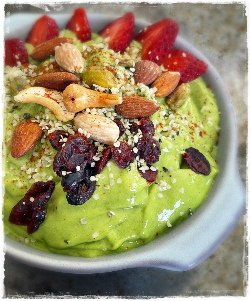 Mango Spinach Smoothie Bowl Rawon10 Raw Food Recipe